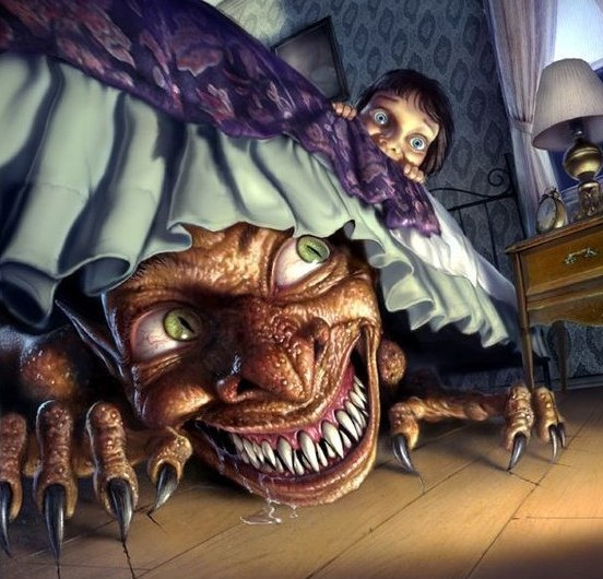 nitty poker players fear monsters under the bed MUBSY