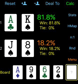 poker odds calculation