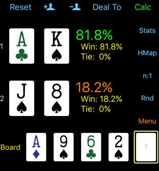 poker odds calculation