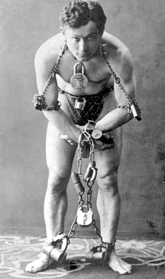 Harry Houdini poker escape artist
