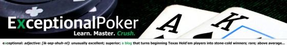 Exceptional Poker PokerBug Mark Warner blog